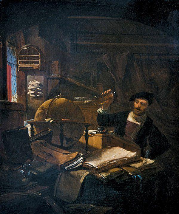 The Alchemist in His Studio by Thomas Wyck