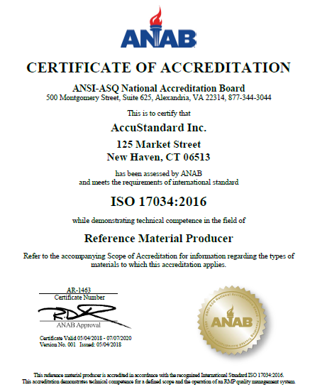 ISO 17034:2016 - AccuStandard