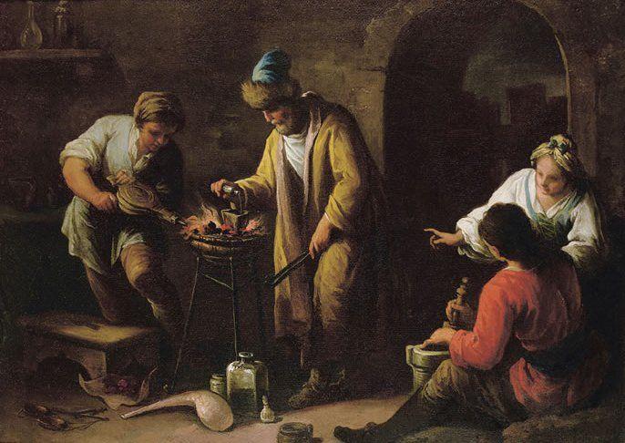The Alchemist by Giovanni Camillo Sagrestani